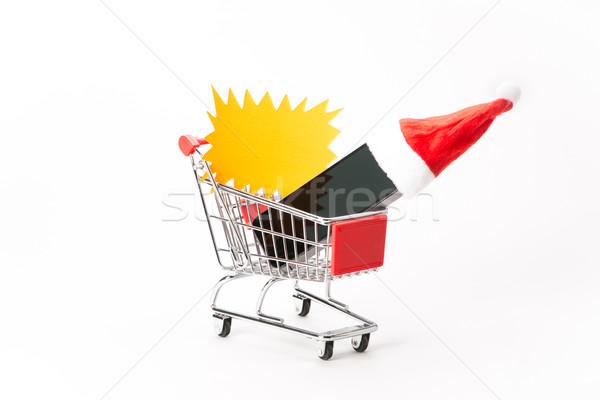 ショッピング スマートフォン 白 携帯 帽子 クリスマス ストックフォト © Studio_3321