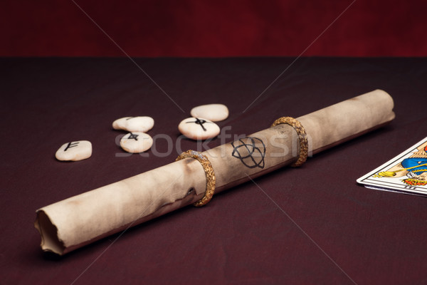 Clairvoyance equipment with parchment Stock photo © Studio_3321