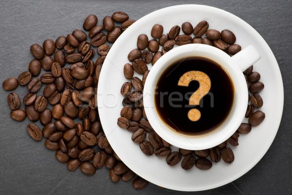 カップ コーヒー ポイント 豆 食品 背景 ストックフォト © Studio_3321