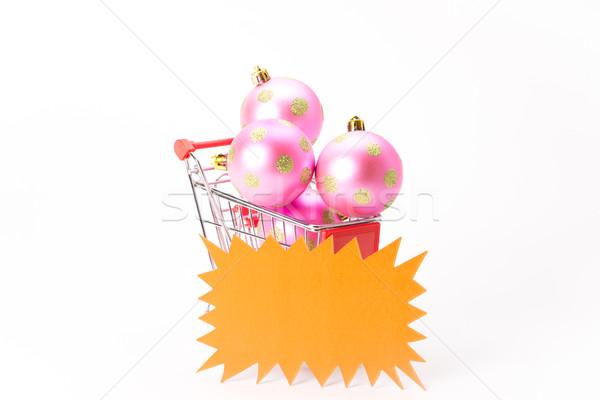 ショッピング クリスマス ボール 白 ビジネス 背景 ストックフォト © Studio_3321