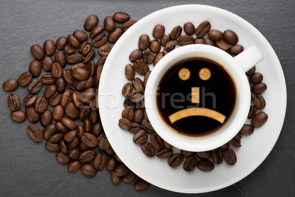カップ コーヒー 悲しい 豆 食品 背景 ストックフォト © Studio_3321