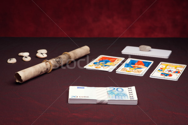 Clairvoyance equipment with money Stock photo © Studio_3321