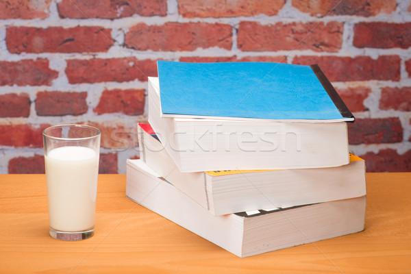 図書 学校 ガラス ミルク レンガの壁 図書 ストックフォト © Studio_3321