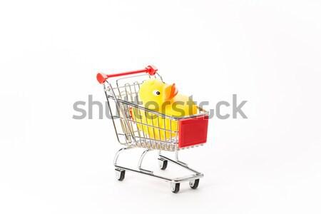 ショッピング カモ 白 オレンジ おもちゃ バス ストックフォト © Studio_3321