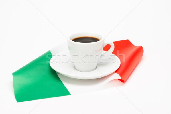 カップ コーヒー フラグ 白 食品 ドリンク ストックフォト © Studio_3321