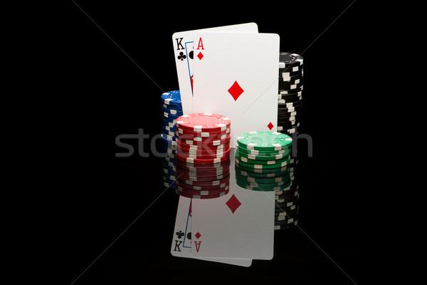 ポーカー ペア 黒 カジノ 色 勝者 ストックフォト © Studio_3321