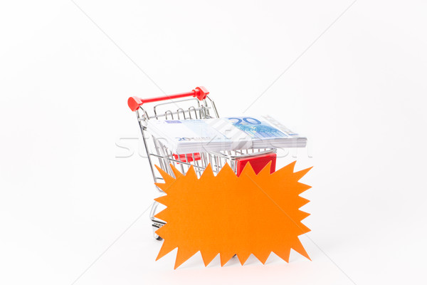 Caddy for shopping with money stack Stock photo © Studio_3321