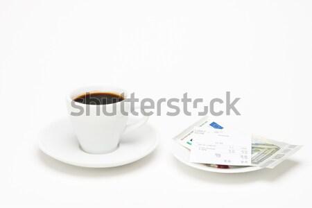 カップ コーヒー 法案 白 ドリンク カフェ ストックフォト © Studio_3321