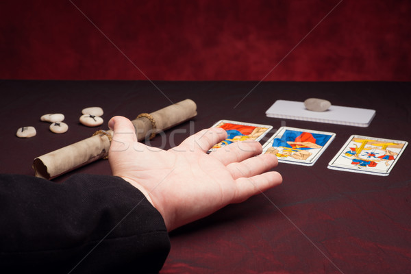 Clairvoyance equipment with palm Stock photo © Studio_3321