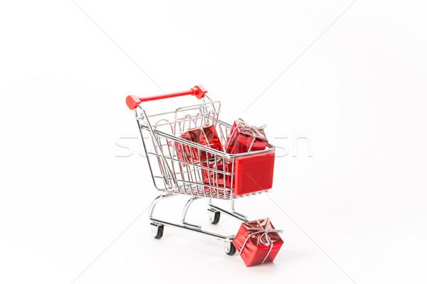 ショッピング ギフト 白 ビジネス 背景 金属 ストックフォト © Studio_3321