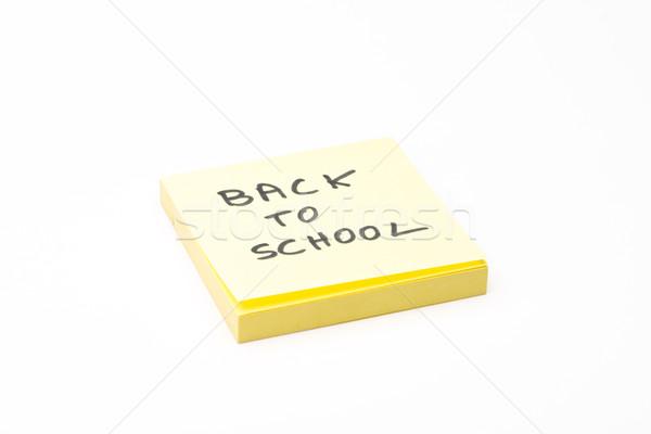 Post-it back to school Stock photo © Studio_3321