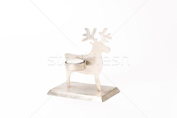 クリスマス トナカイ キャンドル 孤立した 白 ツリー ストックフォト © Studio_3321