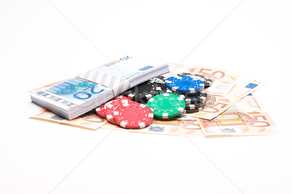 Money with poker chips Stock photo © Studio_3321