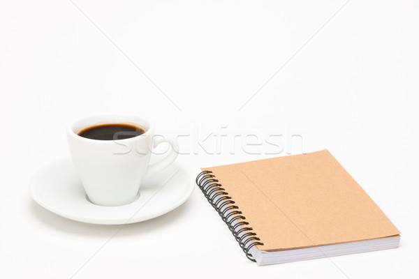 カップ コーヒー ノートブック 白 食品 鉛筆 ストックフォト © Studio_3321