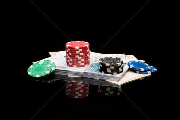 お金 黒 色 ユーロ ギャンブル ストックフォト © Studio_3321