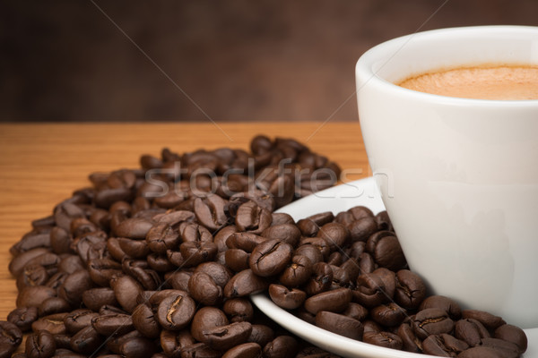Coffee's cup with bean Stock photo © Studio_3321