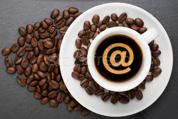 カップ コーヒー にログイン 豆 食品 インターネット ストックフォト © Studio_3321