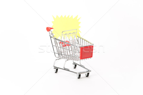 Caddy for shopping with discount coupon Stock photo © Studio_3321
