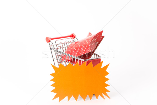 Caddy for shopping with gift Stock photo © Studio_3321