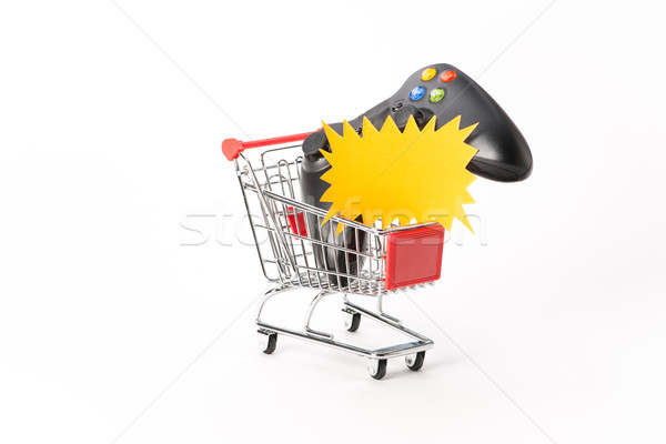 Caddy for shopping with game pad Stock photo © Studio_3321