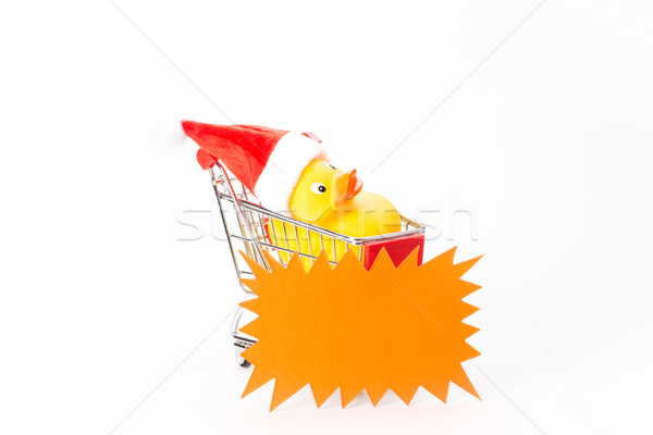 Caddy for shopping with christmas duck Stock photo © Studio_3321