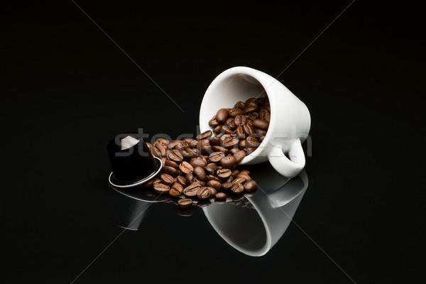 Bean's coffee cup with capsule Stock photo © Studio_3321