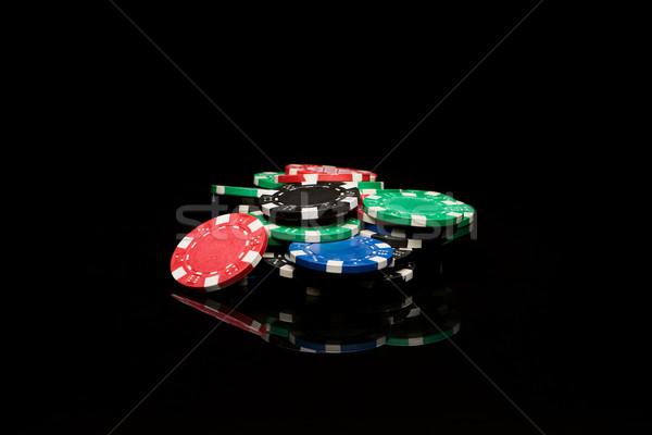 黒 緑 青 カジノ 色 ストックフォト © Studio_3321