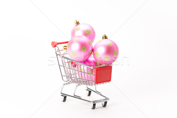 Caddy for shopping with christmas ball Stock photo © Studio_3321