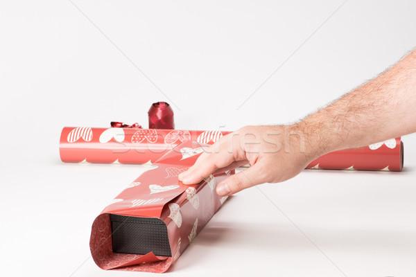 ギフト ステージ 赤 紙 建設 ストックフォト © Studio_3321