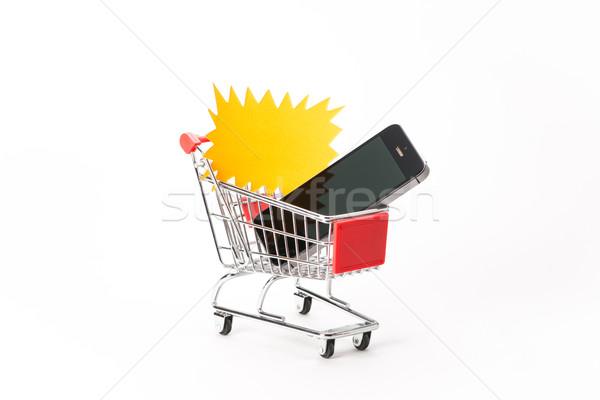 ショッピング スマートフォン 白 携帯 デジタル 販売 ストックフォト © Studio_3321