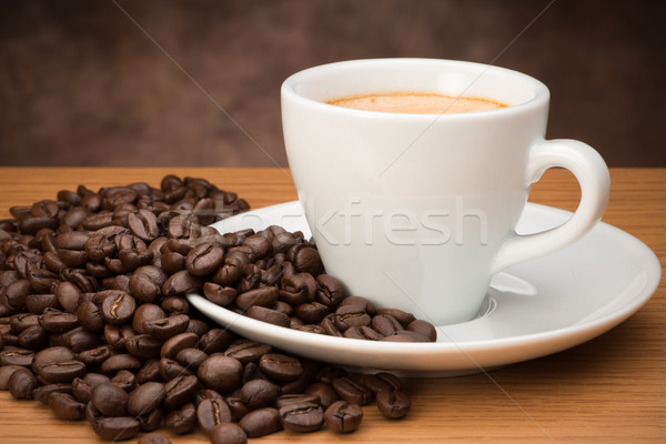 カップ 豆 暗い コーヒー カフェ ストックフォト © Studio_3321