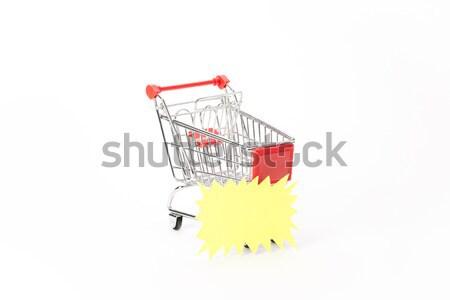 ショッピング 割引 クーポン 白 ビジネス 背景 ストックフォト © Studio_3321
