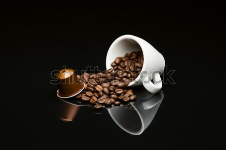 Bean's coffee cup with capsule Stock photo © Studio_3321