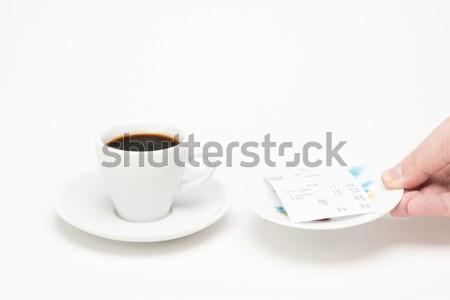 カップ コーヒー 法案 白 男 ドリンク ストックフォト © Studio_3321