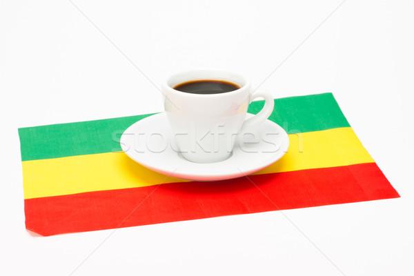 Кубок кофе флаг белый продовольствие пить Сток-фото © Studio_3321