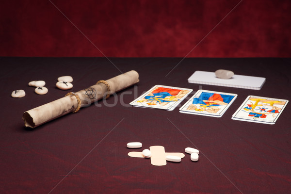 Clairvoyance equipment with pills Stock photo © Studio_3321