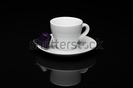 カップ コーヒーカップ コーヒー 黒 反射 食品 ストックフォト © Studio_3321