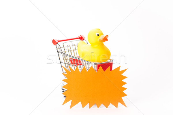 Caddy for shopping with duck Stock photo © Studio_3321
