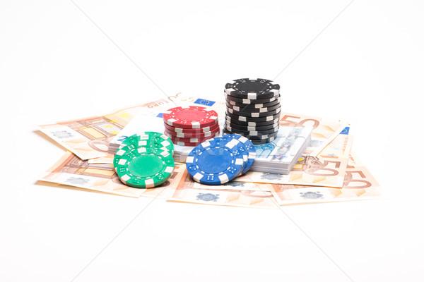お金 孤立した 白 赤 金融 ストックフォト © Studio_3321