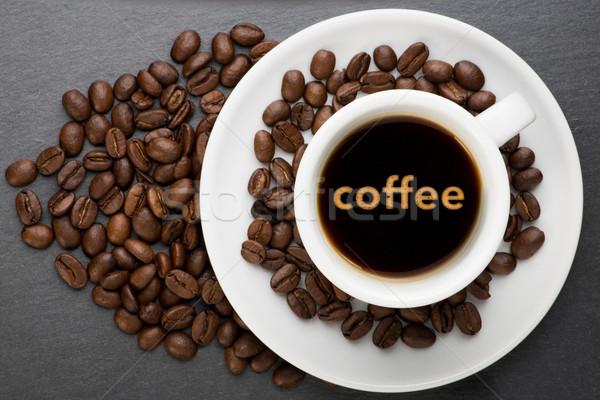 カップ コーヒー 文字 豆 食品 にログイン ストックフォト © Studio_3321