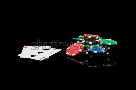 Poker cards with chips Stock photo © Studio_3321
