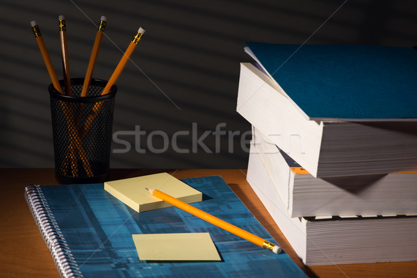 Desk with adhesive note in night Stock photo © Studio_3321
