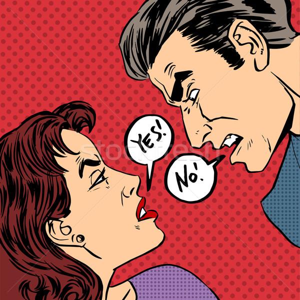 怒っ けんか 男性 女性 はい ストックフォト © studiostoks