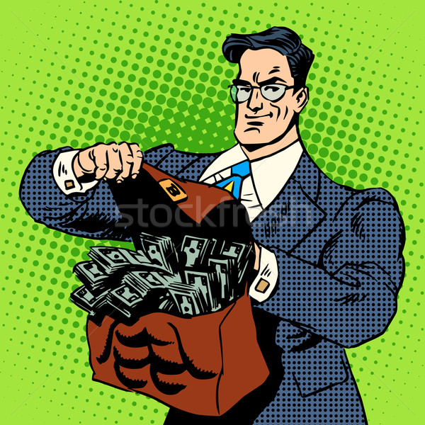 スーパー ビジネスマン スーツケース お金 ビジネス 金融 ストックフォト © studiostoks