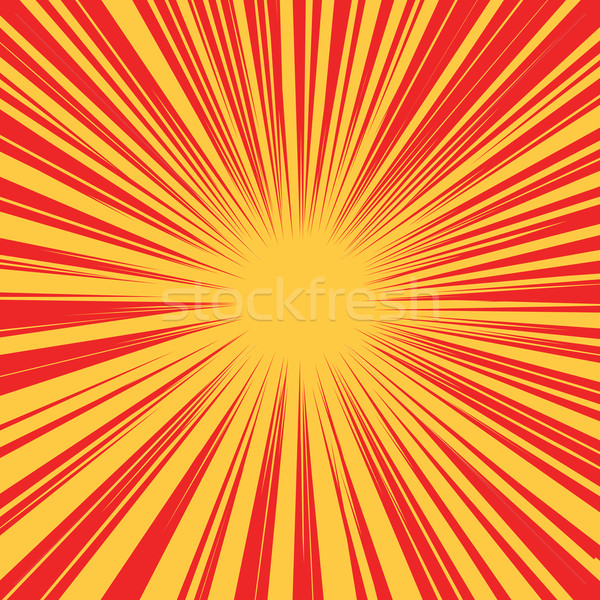 Red yellow retro rays vector background Stock photo © studiostoks
