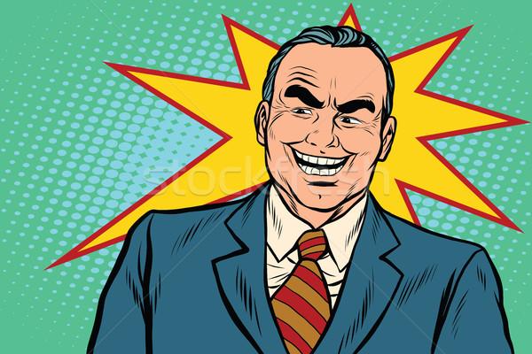 Gonosz főnök pop art retro férfi háttér Stock fotó © studiostoks