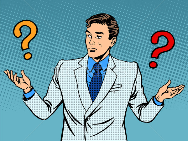 Questions businessman misunderstanding Stock photo © studiostoks