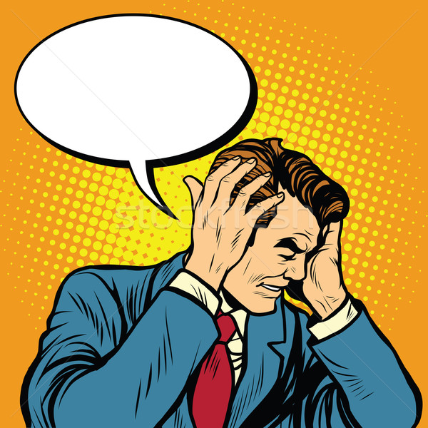 Stock photo: businessman with a headache