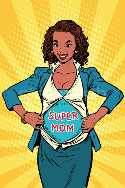 Super mom African businesswoman Stock photo © studiostoks