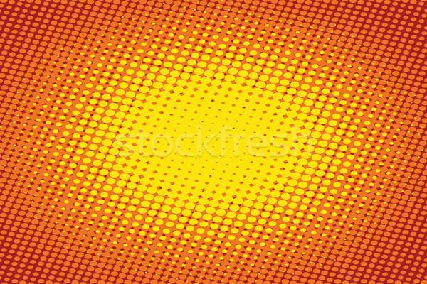 Arancione luce pop art retro arte vintage Foto d'archivio © studiostoks